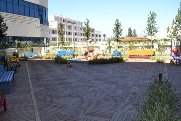 Children's Hospital rooftop deck